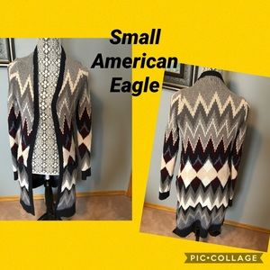 Ladies small American eagle knitted cardigan